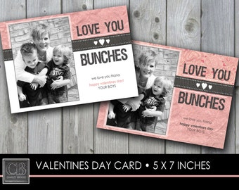 CUSTOMIZED PHOTO Valentines Day Card 5 x7 - printable DIGITAL file