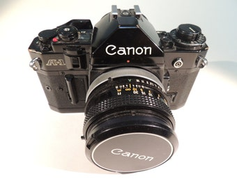 Vintage Camera, Canon A-1, 35 mm, with 50 mm lens. Classic and legendary.