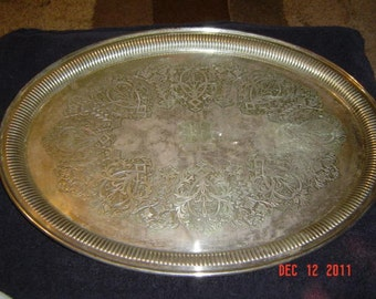 1800's MH & Co Large Oval EPGS Serving Platter # 2472