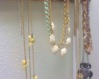 Wooden Necklace Display