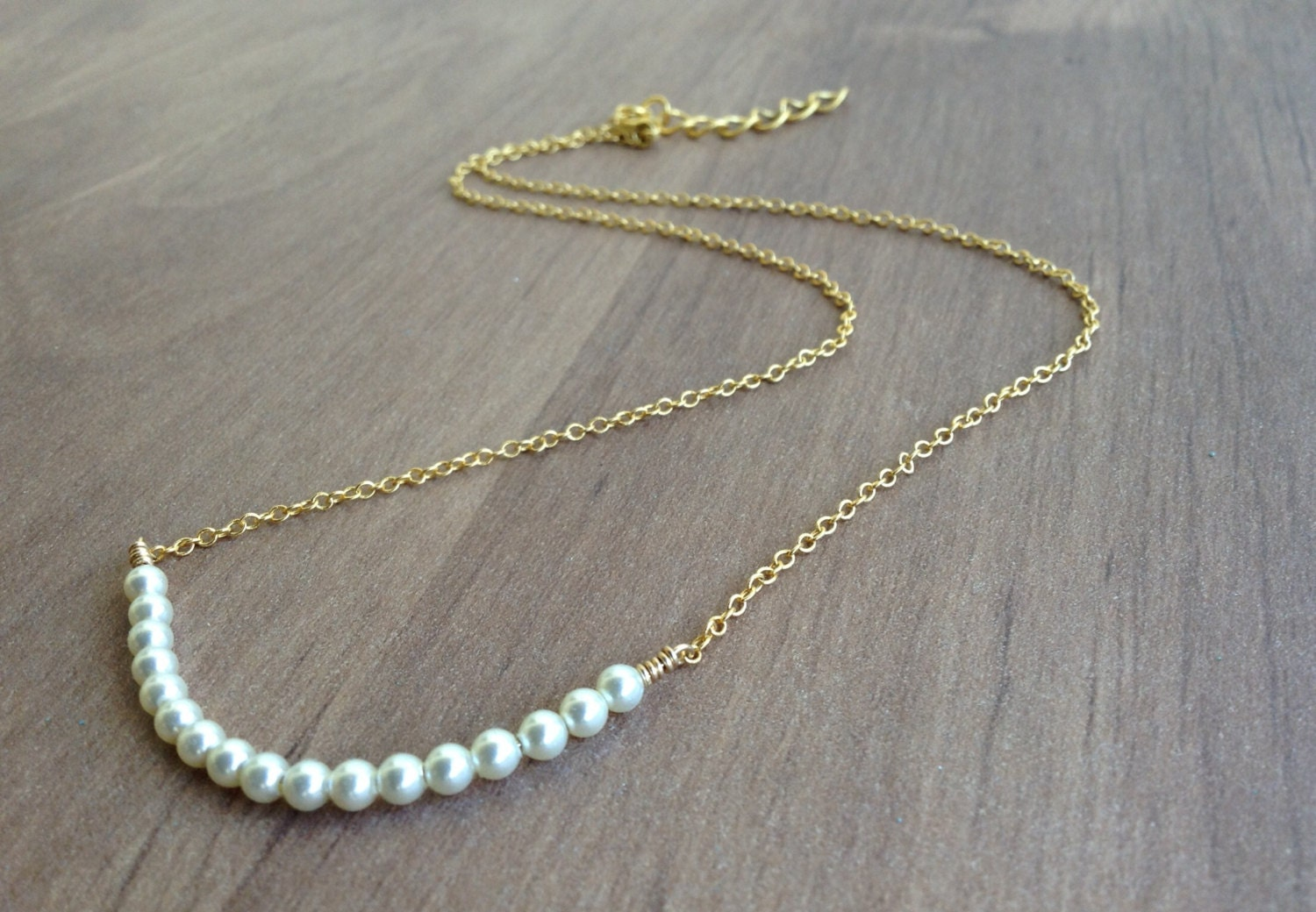 dainty pearl necklace pearls gold necklace gold pearl