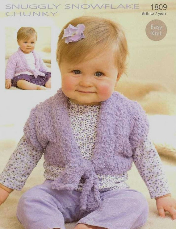 Knitting Pattern Baby Bolero Cardigan : Knit Baby Toddler Child Bolero Cardigan Vintage Knitting