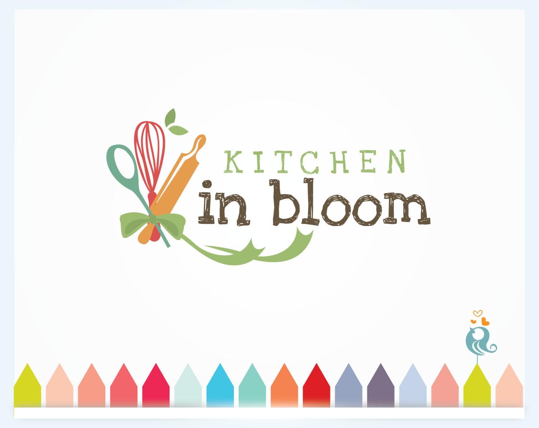 Kitchen Designer Logo Kitchen In Bloom Cooking Business Logo Food Logo With Spoon