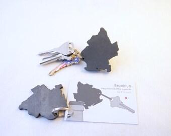 Brooklyn keychain bottle opener