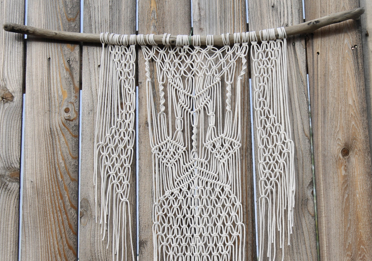 Wall Hangings Etsy macrame wall hanging on driftwood