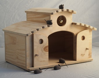 NEW MEXICO (cat house with scratching post - pet furniture) - Blitzen Made in Italy 100%