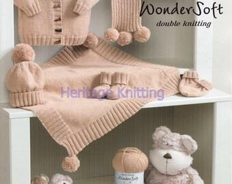 baby set dk knitting pattern 99p