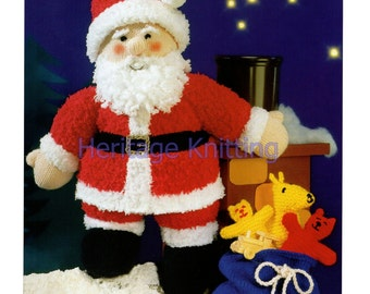 father christmas toy dk knitting pattern 99p