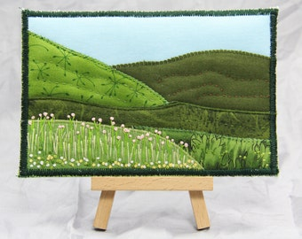 Landscape Quilted Postcard