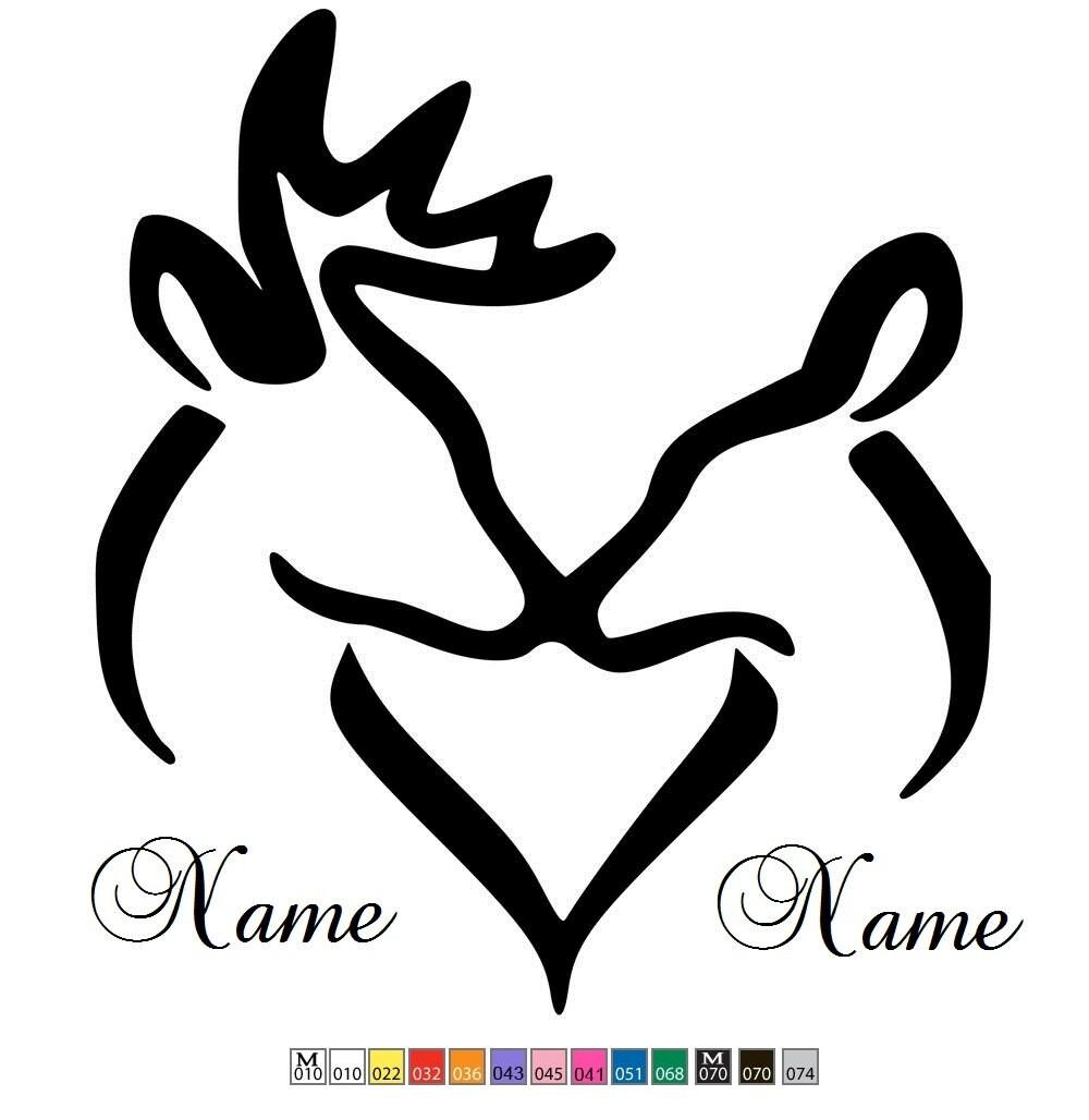 Browning Deer Logo Custom