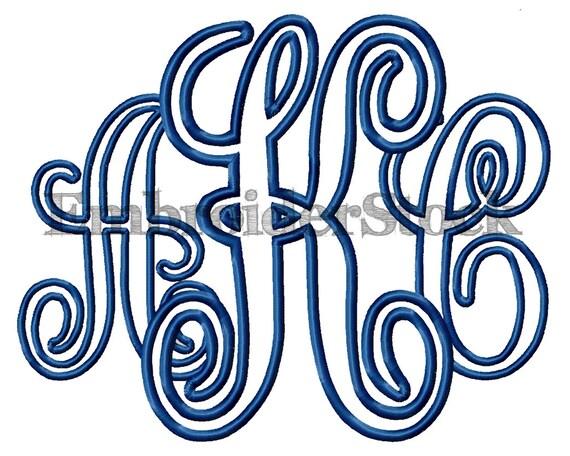 Interlocking vine svg monogram cuttable font