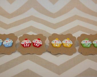 Cup Cake Earrings
