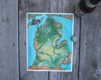 Fantasy Map of Michigan (Lower Peninsula)