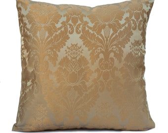 Gold Pillow, Throw Pillow Cover, Decorative Pillow Cover, Cushion Cover, Pillowcase, Accent Pillow, Toss Pillow, Satin Blend, Home Decor