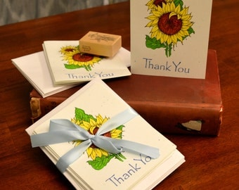 Sunflower Thank You Cards Set of 5