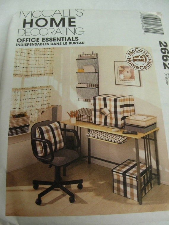 office essentials sewing pattern mccall s home decor