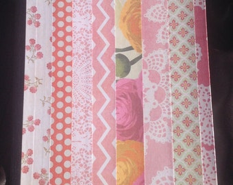 Pinky Posy Covered Composition Notebook