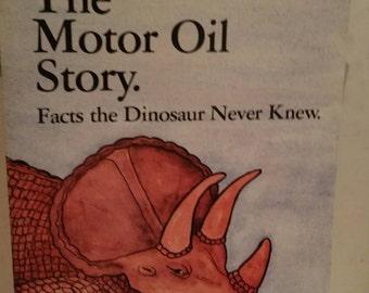 Pennzoil Motor Oil Story booklet