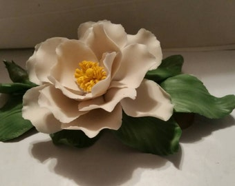 Capodimoute Porcelain English Rose