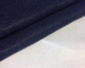 "62"" Premium-Quality Rare Dark Indigo Blue Japanese Tencel Denim Medium Weight Woven Fabric By the Yard"