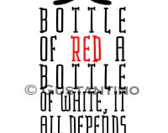 Wine Bottle Print