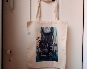Tote Bag of my ilustration, sreenprinting, 100% cotton