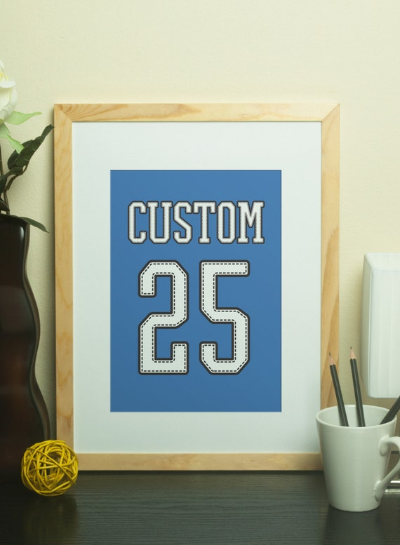 Custom home decor custom name jersey print with custom number for Personalized home decor