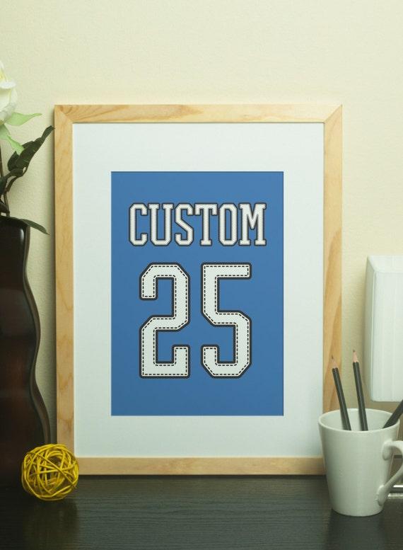 Custom Home Decor Custom Name Jersey Print With Custom Number