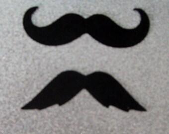 100 Mustache Moustache Cut Outs - Die Cuts - Photo Props (3024M)