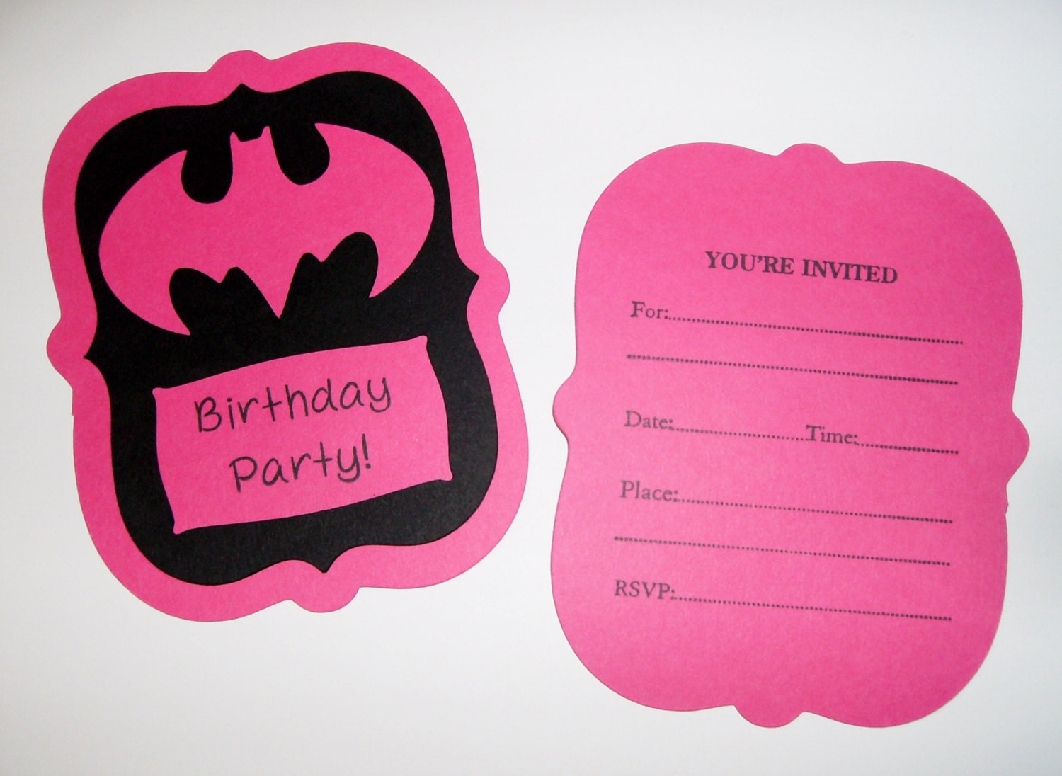 Batgirl Birthday Party Invitations 10 invitations 1026E