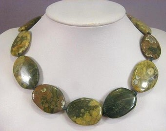 Necklace Rhyolite 35mm Smooth Stones NSRY5712