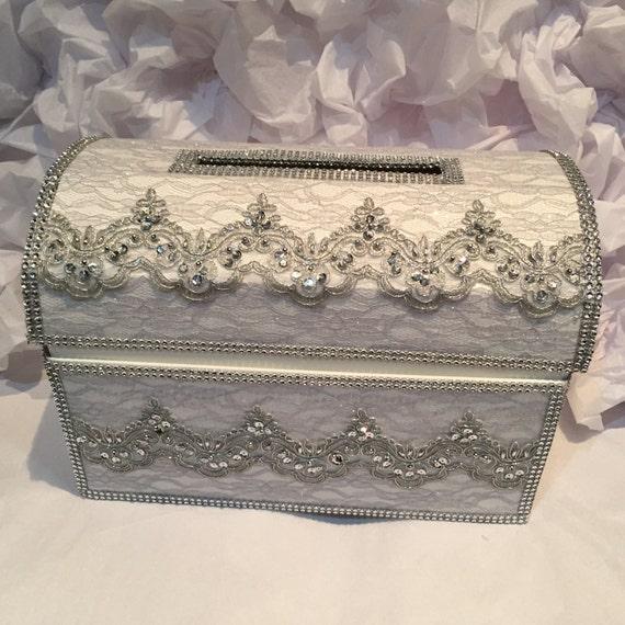 treasure chest money boxwedding card boxsilver wedding card – Treasure Chest Wedding Card Box