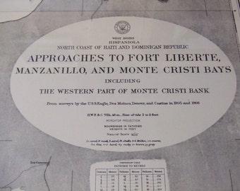 Approaches to Fort Liberte, Manzanillo, and Monte Cristi Bays, incl W Part of Monte Cristi Bank - W Indies, N Coast Hispaniola- Chart #1804