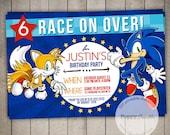Sonic the Hedgehog Custom Printable Birthday Invitation