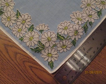 Blue with daisies handkerchief