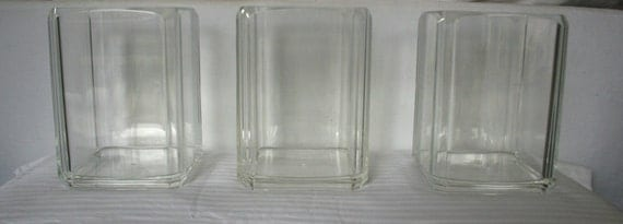 vintage lucite waste basket clear acrylic from the 1980s