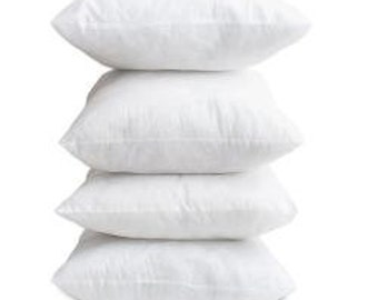 16x16 down pillow insert, Feather insert, Pillow Form, Made in the USA
