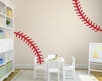 Baseball Stitch Wall Decal
