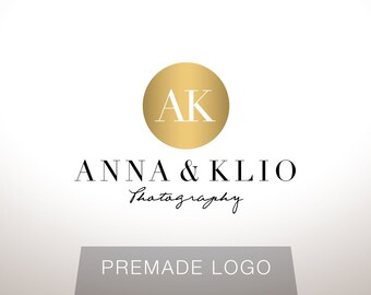 Logo Design - Premade Logo Design - Photography Logo - Studio Logo - Gold Logo - Clean Logo - Modern Logo, Customized for any business - 053
