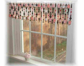 Flirty Sewing Room Window Valance Curtain Treatment