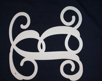 "1/4"" Baltic Birch Plywood Single Monogram Initial,"