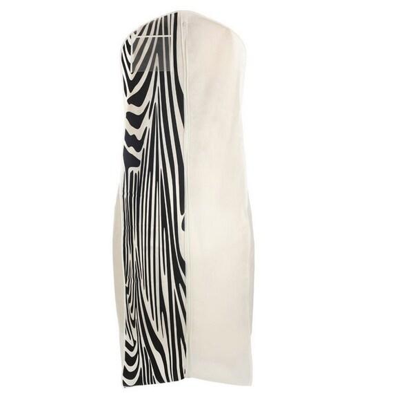 White zebra print breathable wedding gown garment bag big bag for Zebra print wedding dress
