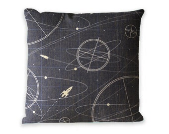 Decorative Throw Pillow Cover Vintage Universe Zip Cover