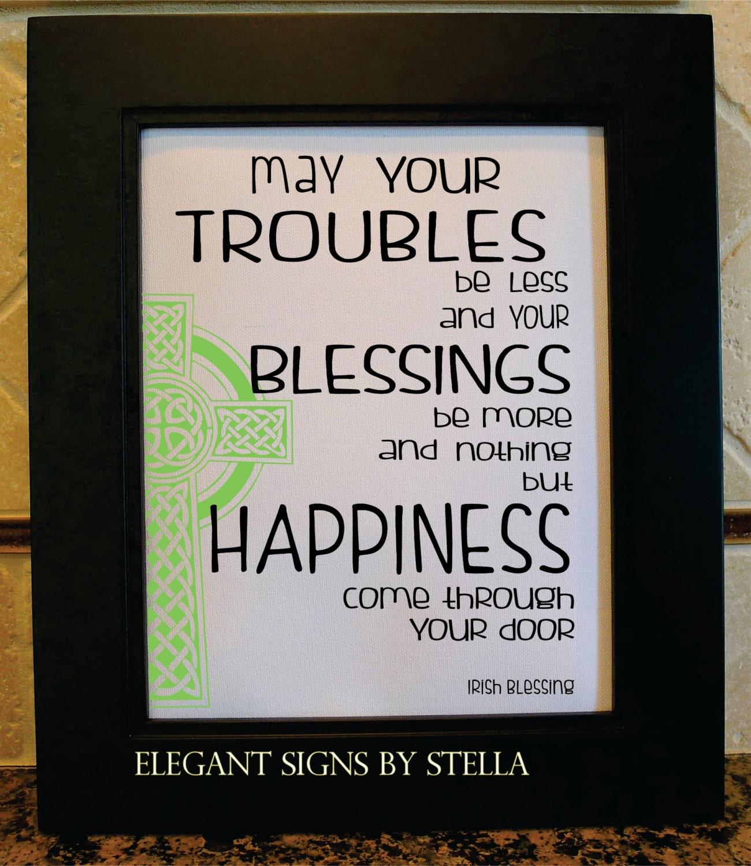 Irish saying celtic art green irish poem troubles - House warming blessing ...