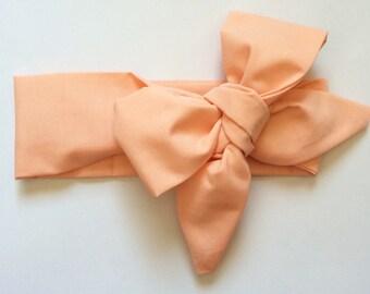 Peach baby headwrap