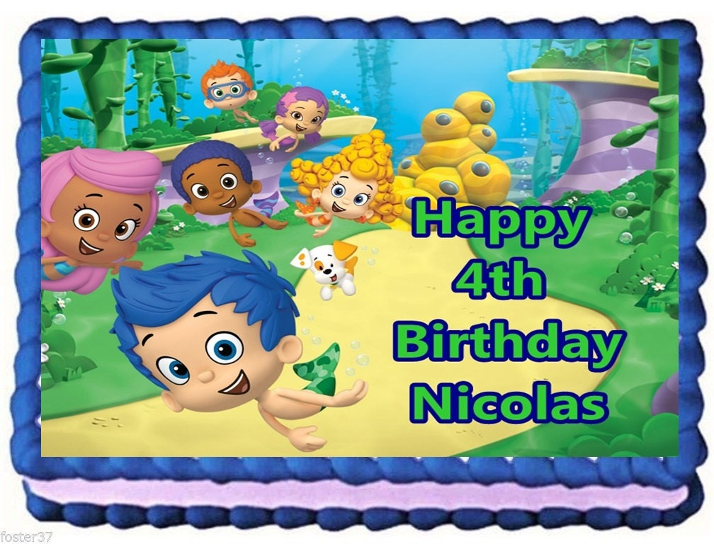 Bubble Guppies Edible Cake Topper Birthday by ...
