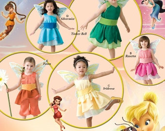 Simplicity sewing pattern 2559 Disney Fairy Costumes for Toddlers, Tinker Bell, Silvermist, Rosetta, Fawn, Iridessa - new and uncut