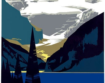 T58 Vintage Canada Canadian Rockies Lake Louise Travel Tourism Poster Re-Print Wall Decor A1/A2/A3/A4
