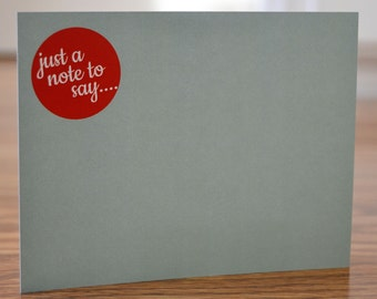 Just a Little Note... Note Card
