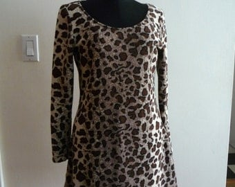 Stretch Terry Animal Print Dress